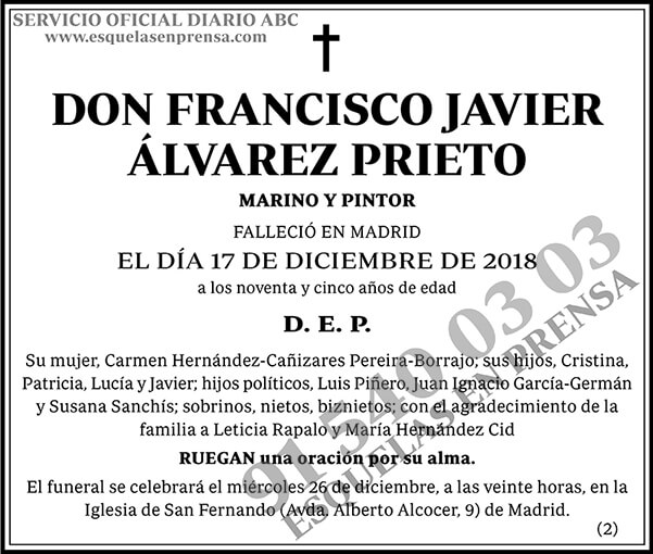Francisco Javier Álvarez Prieto
